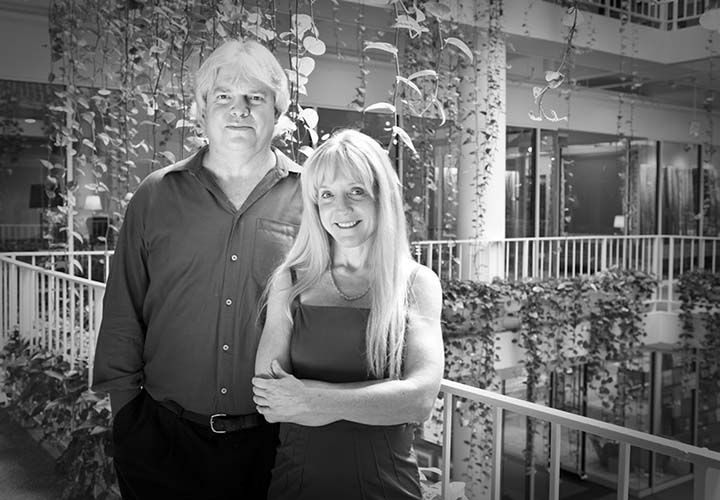 Randy Massey, founder of Electronic Home, and his wife Terry.